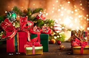 Картинка Новый год Подарки Бантик Коробка