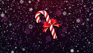 Картинки Рождество Леденцы Бант