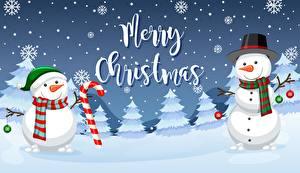 Фото Рождество Снеговик Английский Шарфе Шляпа