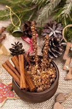 Картинка Рождество Сладости Корица Бадьян звезда аниса Еда