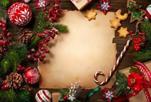 Обои Новый год Шаблон поздравительной открытки Шарики