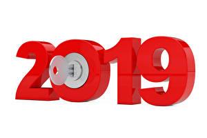 Картинки Рождество Белый фон 2019 Замковый ключ Красный