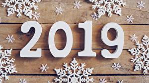 Фотография Рождество Доски 2019 Снежинки