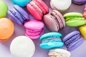 Картинки Печенье Крупным планом Макарон Еда