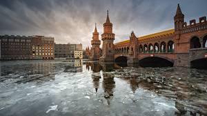 Фотографии Германия Берлин Реки Мосты Башня