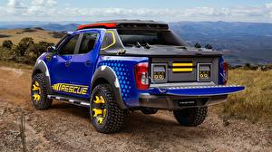Фотографии Ниссан Пикап кузов Синих Сзади Concept 2018 Sentinel Frontier Автомобили