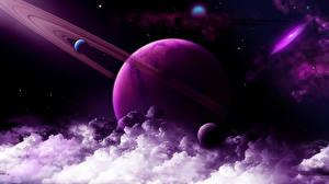 Картинка Планеты Облака 3D_Графика