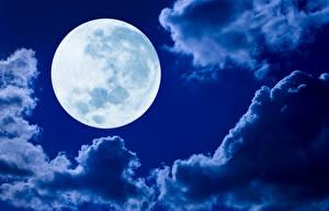 Обои Небо Облака Луна