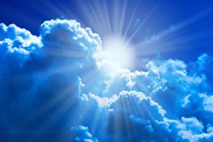 Фото Небо Облака Солнце Лучи света