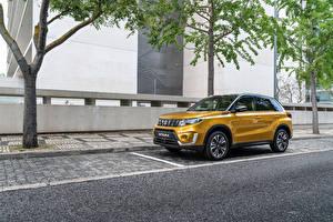 Фотография Suzuki - Автомобили Желтый Металлик Золотые 2018 Vitara Worldwide