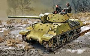 Обои Танки Рисованные WWII М10