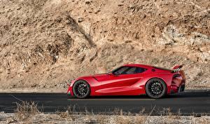 Фотографии Тойота Красный Сбоку 2014 FT-1 Concept авто