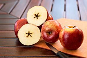 Картинки Яблоки Ножик Пища