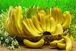 Обои Бананы Много Крупным планом Еда