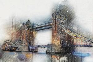 Обои Мосты Англия Лондон Города