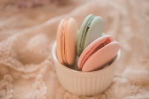Обои Вблизи Печенье Макарон Трое 3 Еда