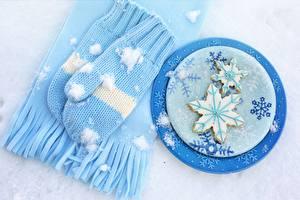 Картинки Печенье Варежках Шарфе Снежинки