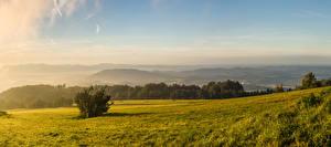 Фото Чехия Пейзаж Горы Леса Карпаты Трава Природа