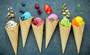 Обои Мороженое Ягоды Еда картинки