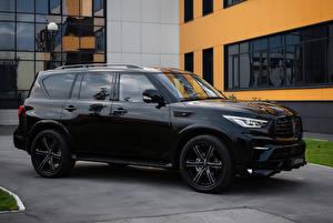 Фото Infiniti Черный SUV Металлик 2018-19 Larte Design Infiniti QX80 Missuro Автомобили