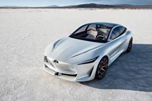 Картинка Infiniti Белый 2018 Q Inspiration Concept Машины