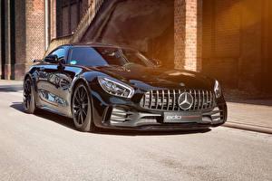 Обои Mercedes-Benz Черные Металлик 2018-19 Edo Competition AMG GT R машина