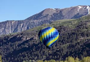 Фотографии Горы Воздушный шар Природа