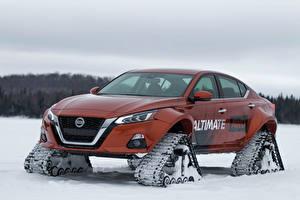 Картинка Nissan Тюнинг Коричневые 2019 Altima-te AWD Concept Автомобили