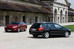Картинка Пежо Двое Peugeot 407, Peugeot 407 SW Машины