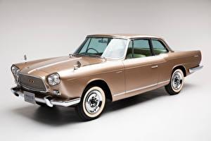 Картинки Винтаж Ниссан Серый фон Металлик 1961-63 Prince Skyline Sports Coupe Michelotti