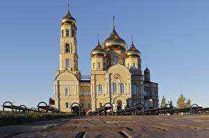 Фото Россия Собор Купол Orel region, Vyatskiy Posad, Church Of The Presentation Of The Lord Города