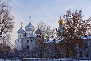Фотографии Россия Зимние Церковь Vologda