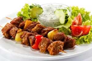 Картинки Шашлык Овощи Продукты питания