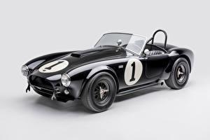 Фотографии Shelby Super Cars Ретро Серый фон Черный Металлик Кабриолет 1962 Shelby Cobra 289 Автомобили