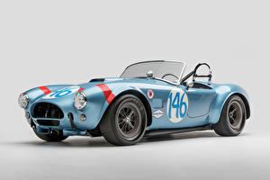 Обои SSC Винтаж Серый фон Голубой Кабриолет Родстер 1964 Shelby Cobra 289 FIA Competition Авто