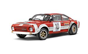 Фотографии Шкода Винтаж Белый фон 1974 Skoda 200RS Автомобили