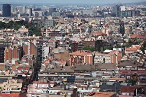 Фотографии Испания Дома Барселона Мегаполис