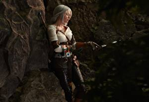 Картинка Ведьмак 3: Дикая Охота Воители Блондинка Cirilla Девушки