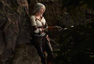 Картинка Ведьмак 3: Дикая Охота Воители Блондинка Cirilla молодые женщины