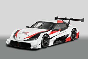 Картинки Тойота Стайлинг Белый 2019 GR Supra Super GT Concept