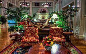 Фотография Штаты Диснейленд Парки Интерьер Дизайн HDRI Кресло