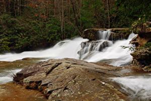 Картинка США Парки Водопады Ohiopyle State Park Pennsylvania Природа