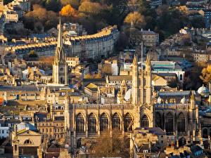 Картинка Великобритания Здания Bath город
