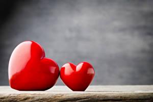 Картинка День всех влюблённых Два Сердце Красный