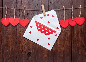 Фотография День святого Валентина Доски Стена Прищепки Сердце