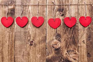 Фото День святого Валентина Доски Стены Серце Красных