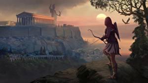 Картинки Лучники Assassin's Creed Odyssey Воин Игры