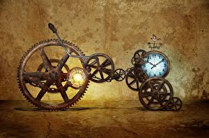 Картинка Часы Винтаж Шестерня
