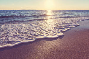 Фото Берег Волны Море Природа