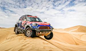 Картинки Пустыни Mini Ралли Cooper 303 X-Raid Team Dakar 2019 автомобиль
